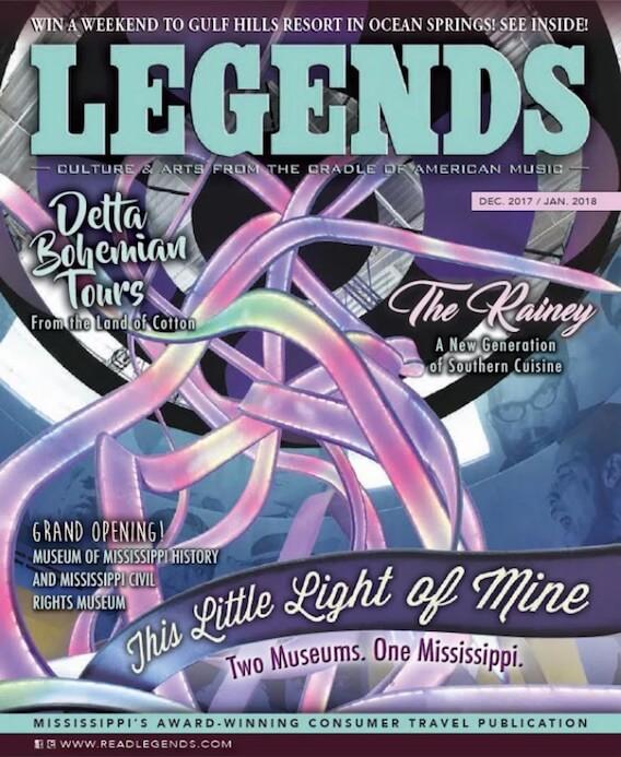 LEGENDS MAGAZINE cover Dec 2017 Jan 2018