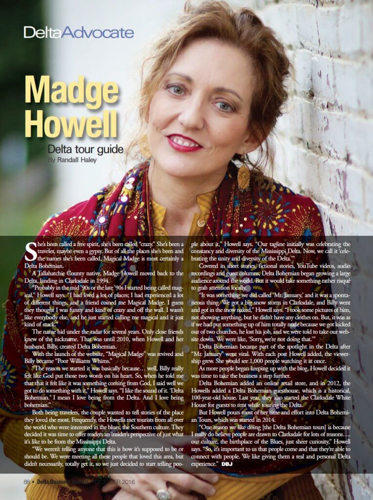 Madge Howell Delta Advocate