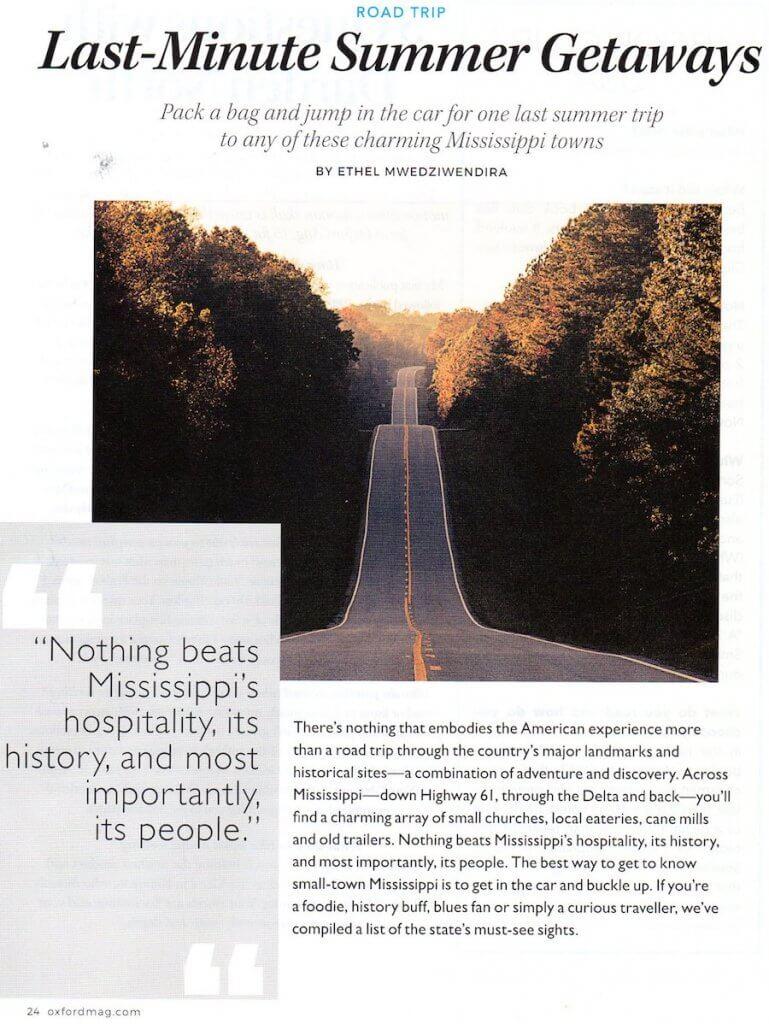 Oxford Magazine article cover