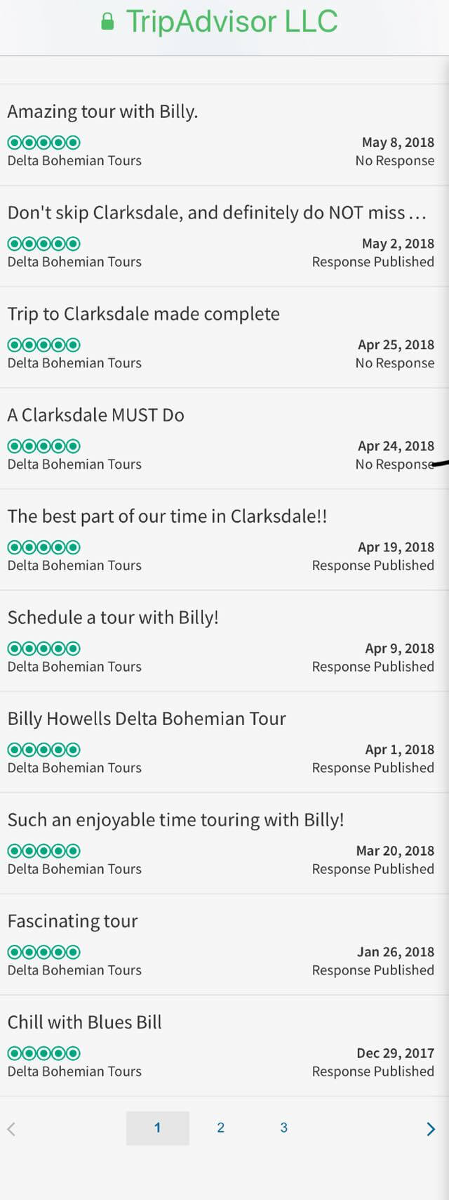 TripAdvisor Reviews Page Two