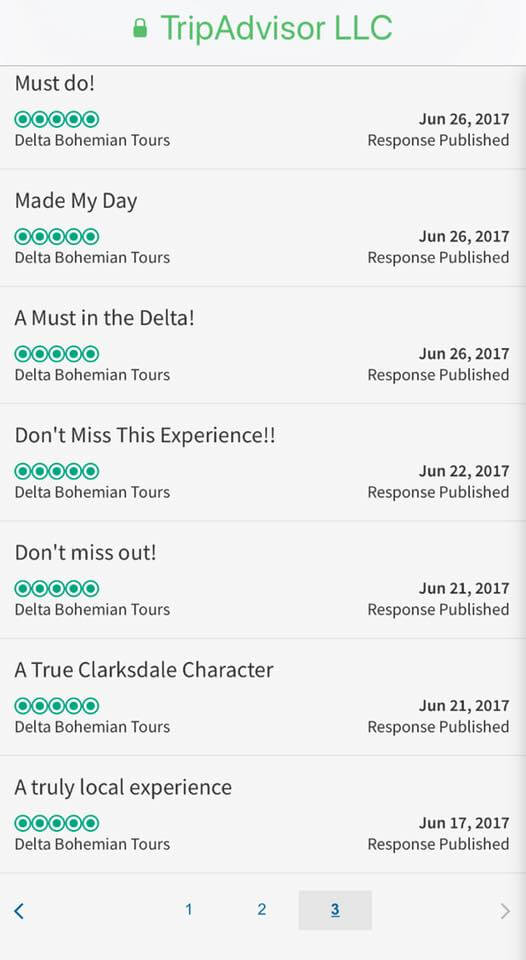 TripAdvisor Reviews Page Three