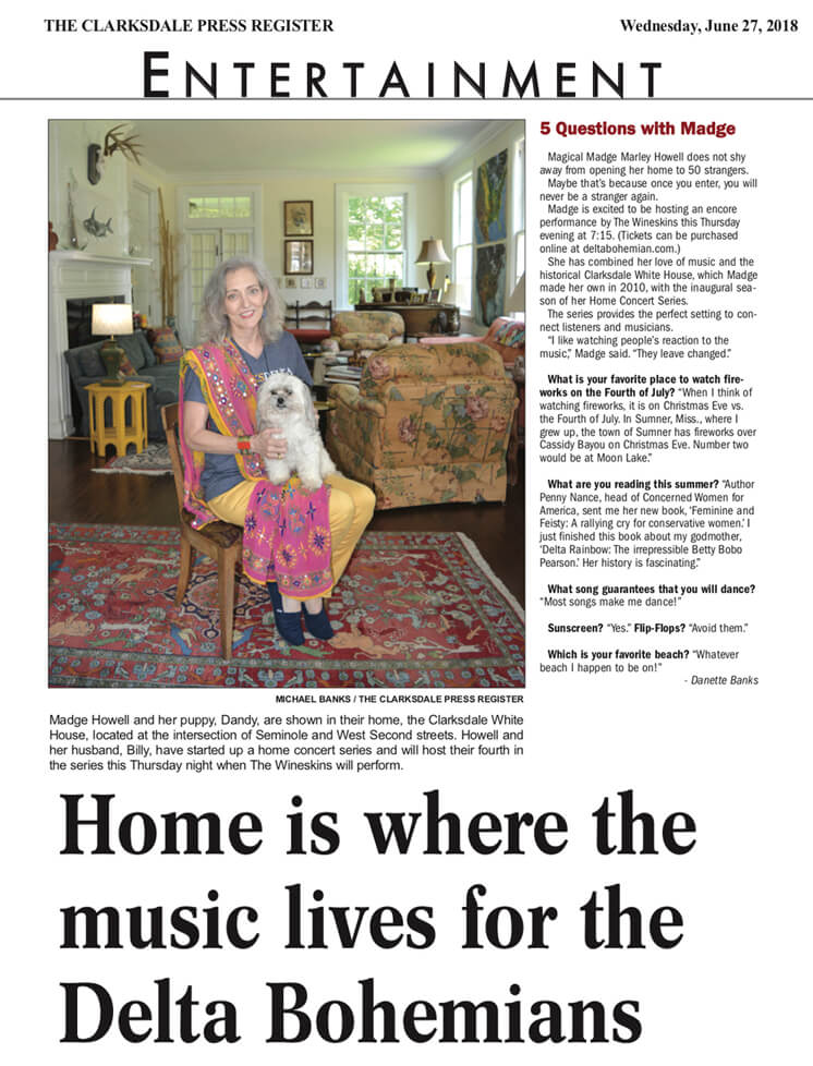 Home is where the music lives for the Delta Bohemians