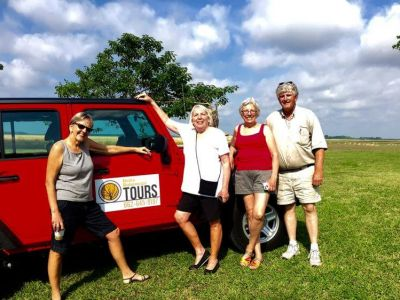 Group in front of Tour Jeep