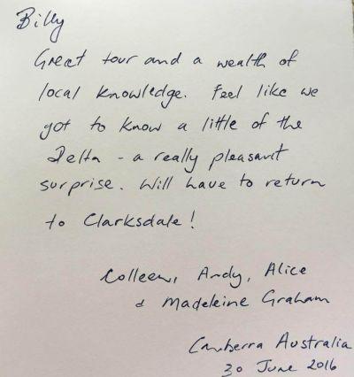 Handwritten Review from Madeleine