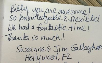 Handwritten Review from Suzanne