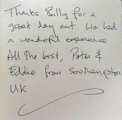 Handwritten Review from Eddie
