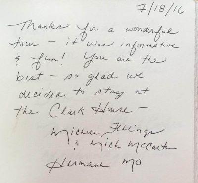 Handwritten Review from Herman