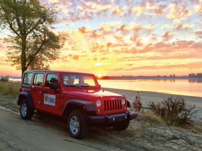 The DB Tours Jeep at Sunset